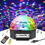 Discokugel LED Lichteffekte Party Lampe Beleuchtung mit Fernbedienung,Jomst RGB Dj Licht, Musik und Stimme Steuerung,Disco Lichter Bühnenbeleuchtung Effektlicht, für Kinder Spielzeug(Musikspieler)
