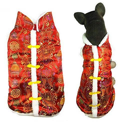 Ranphy Chinesische Neujahrsweste für Hunde, Größe M/L, für kalte Wetter, für Chihuahua