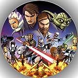 Fondant Tortenaufleger Tortenbild Geburtstag Star Wars T4