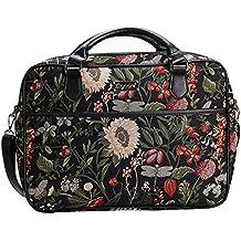 e2c345545a Signare Borsa briefcase donna tessuto stile arazzo alla moda, 15,6 pollici  Mattina Giardino