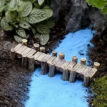 huyiko 3D Cr/éatif Naturel Organisme De Chemin/ée en Bois Pieu Pelouse Montagne Piscine deau Puits F/ée Jardin Usine Maison D/écoration Cadeau