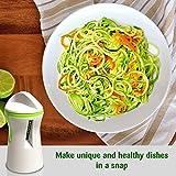 El mejor espiralizador de verduras - Resistente espiralizador de cocina para fideos vegetales y espirales en juliana | ¡Cree deliciosos platos saludables, paleo, sin carbohidratos ni gluten!