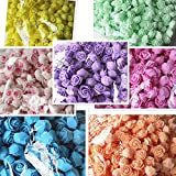 Preadvisor (TM) Nouvelle arrivée 50pcs/sac en mousse PE Rose fait à la main DIY Mariage Décoration multi-usages Fleur artificielle Tête E0
