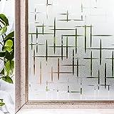CottonColors Pellicola Per smerigliato Finestre geometria Decorativa,pellicola vetrata privacy Autoadesive,Anti-UV,Controllo di Calore, Privacy 3Ft x 6.5Ft (90cm x 200cm)