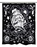Zu Schnell Nautical Tattoo Stoff Vorhang für die Dusche