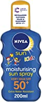 NIVEA SUN Kids Suncream Spray SPF 50+, Coloured, 200 ml