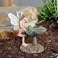 Miniature Fairy Fata del giardino con una rana