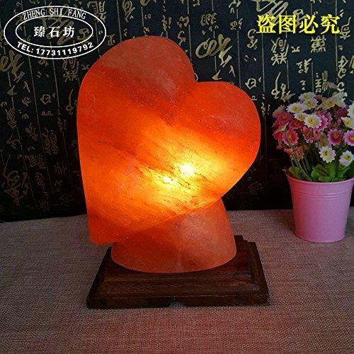 GBT Himalaya-Herz-Förmigen Salz Lampe Tischlampe Schlafzimmer Nachttisch Lampe Nacht Licht Hochzeit Geburtstag Geschenk Kreative Ornamente Einstellbar, Herzförmige Geschnitzte Salz Lampe, Dimmer-Scha -