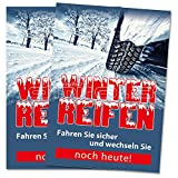 2 x Winterreifen wechseln Poster / Plakat DIN A1 Werbung für Werkstätten