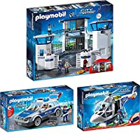 Playmobil® City Action Set of 3687268736874Police Command Centre with Prison + Trolley + Helicopter