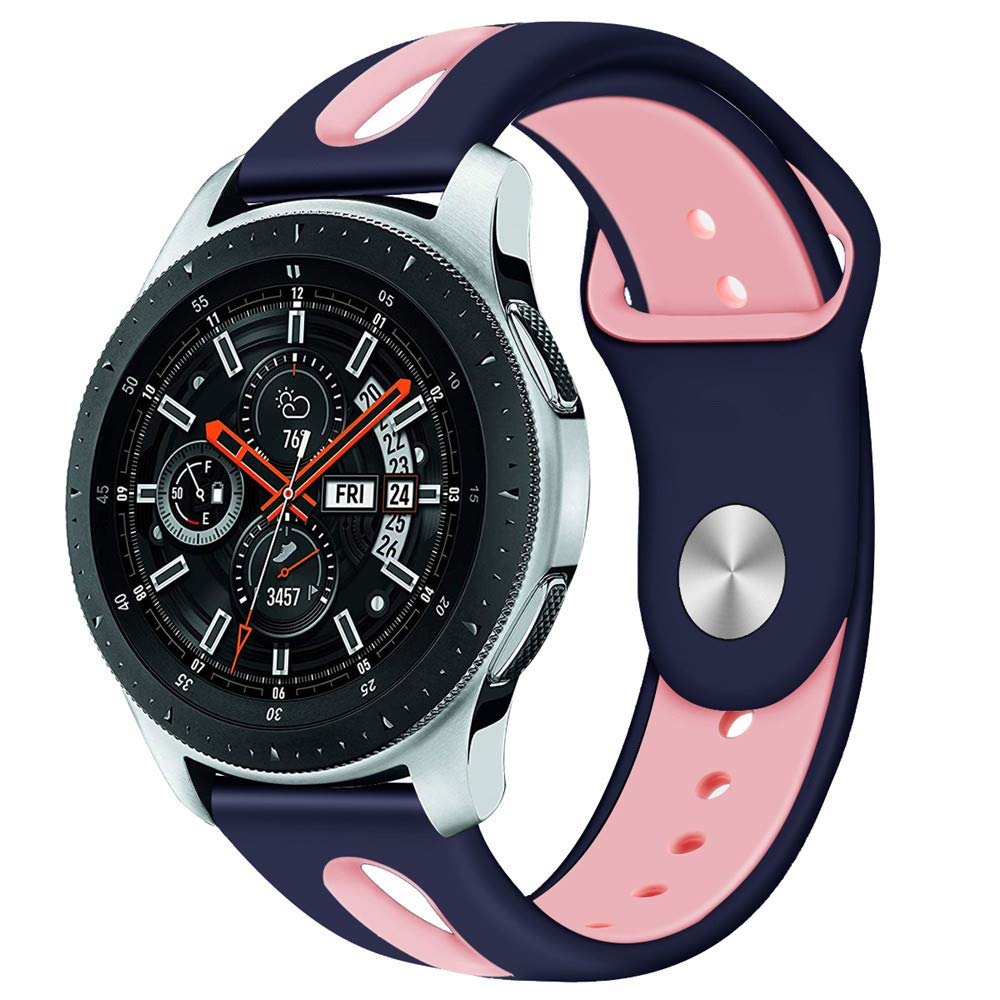 BZLine Armband Soft Silicone Sport Watch Strap for Samsung Galaxy Watch 46 mm Smartwatch Bluetooth Robust and Durable Easy to Adjust Wrist Size: 6.3-8.3 Inches 10 Colours