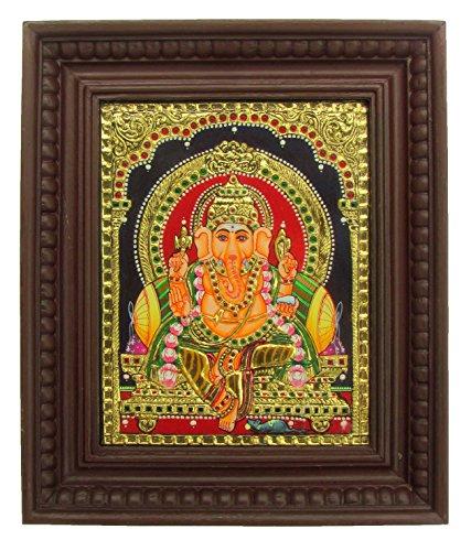 "Chola Impressions Ganesh Tanjore Painting 13""x11"" Chola Impressions Ganesh Tanjore Painting 13″x11″ 61WVUjH8kgL"