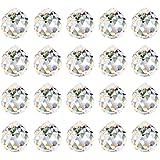 Aipaide Transparente Bola de Cristal 20pcs Bola de Cristal Feng Shui Colgante Bola de Cristal Prisma para Decoración de Lámpa