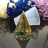 Cristallo DIY piramide epossidica stampo in silicone cono cono cubo torre di energia,D,60mm