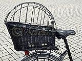 Hunde Katzen Fahrradkorb Weide Rattan Schutzgitter Gepäckträger hinten Gitter