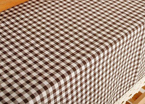 Kunst Verdickung Plaid Tischdecke Pastorale Tuch Tischdecken Kaffeetischdecke Mehrzwecktuch Multi-Size,Coffee-140×220cm (Plaid Vorhänge)