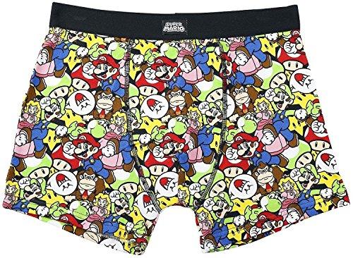 Meroncourt Men's Nintendo Super Bros. Mario & Friends Boxer Shorts