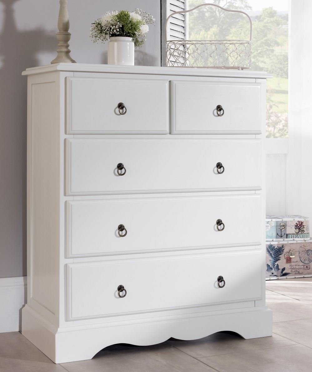 romance 2 over 3 chest of drawers large antique white chest of drawers fully assembled amazoncouk kitchen u0026 home