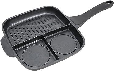 Wonderchef Die-cast Breakfast Pan, 25cm, Black