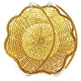 #3: Basket For Fruits | Royal Basket , Wedding Basket Tray For Girls | Fruit & Vegetable Basket Fruit Basket (Big Gold)