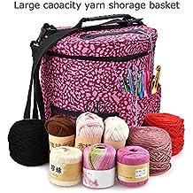 AILHL Hilos de Hilado Bolsas de Tejer Bolitas de Hilo de Crochet livianas y fáciles de