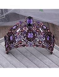 &zhou Tocado nupcial de la joyería del pelo por los accesorios 28 * 9cm del vestido de boda de la mano