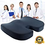 Comfort Cushion, Orthopedic Memory Foam Seat Cushion For Coccyx & Lower Back Pain Relief, Pressure Relief Cushion Great...