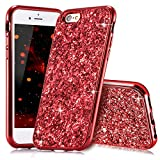 Slynmax Coque iPhone 6s Plus Rouge Coque Silicone Paillette Strass Brillante Bling...