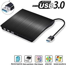 USB3.0 externes CD DVD Laufwerk Brenner, Superdrive für Alle Laptops/Desktop Unter Windows und Mac OS für Apple MacBook, MacBook Pro, MacbookAir, iMac - ourvann