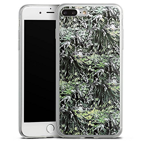 Apple iPhone X Slim Case Silikon Hülle Schutzhülle Busch Pflanzen Muster Silikon Slim Case transparent