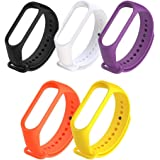 Rapidotzz Pack of 5 Straps/Belts/Bands Compatible for Xiaomi MI3 and MI4 MI Band 3 and MI Band 4