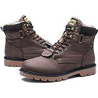 gracosy Bottes Hiver Fourrées Hommes, Chaussure de Ville à Lacets Bottines de Neige en Nubuck Imperméable avec Fourrure…