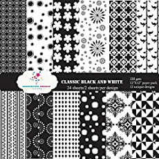 Nakshathra Designz Classic Black & white pattern paper