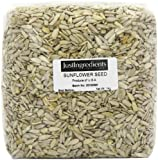 JustIngredients Essential Sonnenblumenkerne, Sunflower Seeds, 2er Pack (2 x 1 kg)