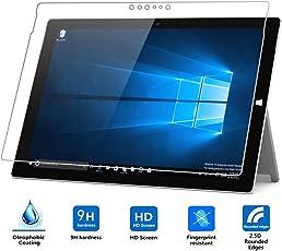 TASLAR Arc Edge Transparent Tempered Glass for Microsoft Surface Pro 4 (Newest Version 2018)