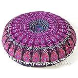 """Eyes of India 32"""" Mandala Pavimento Meditazione Cuscino Seduta Cuscino Copriletto Hippy Decorativo Bohémien Boho Letto per Cane Indiano - Viola #1"""