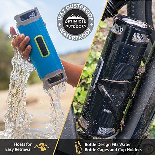 Scosche-boomBOTTLE-Rugged-Waterproof-Wireless-Speaker-BlackSpace-Grey