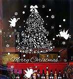 Pegatina de Pared, Youson Girl® Arboles de navidad Etiqueta de la Ventana Navidad Angel Pegatina Navidad (A)