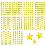 Oblique-Unique 350 x Sterne Sticker Aufkleber in Gold Oder Silber - wählbar (Gold)
