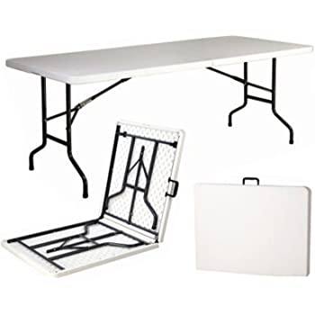 Tavoli Pieghevoli Plastica Per Catering.Tavolo Pieghevole 200 Cm Amazon It Giardino E Giardinaggio