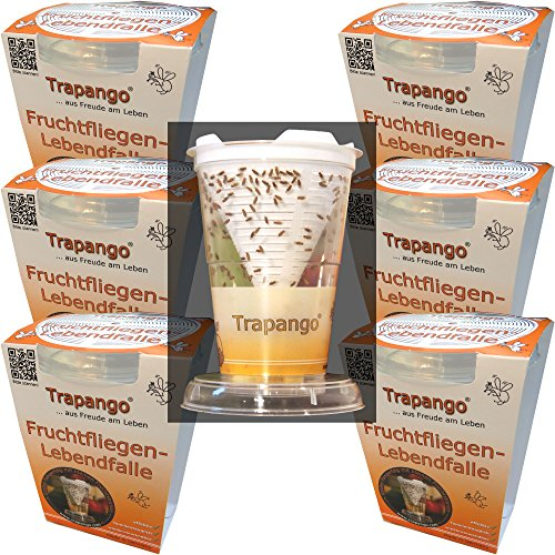 6x Fruchtfliegen-Lebendfalle Trapango®