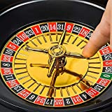 Mixen Roulette Drinking Game with 16 Black and Red Shot Glasses, Funny Party Drinking Game Set Shot Glass Casino Gambling Poker Accessories Bar Game Set