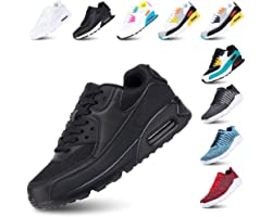 Mens Trainers Women Sport Shoes Running Lace up Sneakers Low Top Ladies Casual Breathable Mesh Footwear Waking Fitness Black
