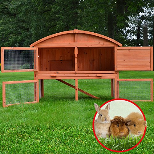 Stall Villa Runddach Kaninchenstall Hasenstall Kaninchenkäfig Hasenkäfig - 3