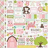 "Bundle Of Joy/A New Addition Cardstock Stickers 12""X12""-Baby Girl, Element"