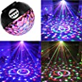 Disco Ball Party Lights Speaker,LVL Strobe Club lights Effect Magic Mini Led Stage Lights with Wireless Bluetooth Speaker,Suitable for Kids Birthday Gift Toys Home KTV Xmas Wedding Show Pub (Balck)