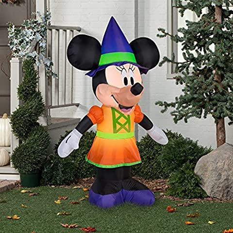 Gemmy Airblown Inflatable 5.5' X 3.5' Minnie Mouse Witch Halloween Yard Decoration by Gemmy Inflatables