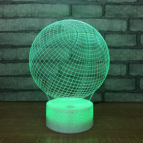 3D Visuelle Lampe Ball Nachtlicht Led 7 Farbe Neuheit Kreatives Geschenk 3D Lampe Stimmung Lampe Arylic Kristall Rgb Weihnachtsdekor Geschenk Für Baby Room Touch -