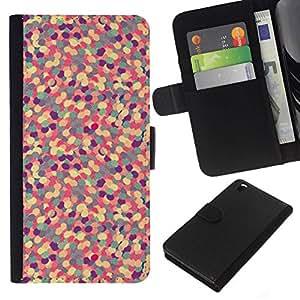 Leder Brieftasche Hülle Schutzhülle HandyHülle für Mobiltelefon Leather Wallet Case for HTC DESIRE 816 / CECELL Phone case / / Abstrakte Muster-lila Blumen Pill /
