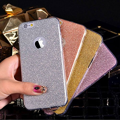 Bling Bling Glitzer Handy Hülle Schutzhülle Soft Case für Apple IPhone 5/5S Rosegold Blau